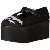 morcego lona 8 cm CLICK-04-2 sapatos de mulher góticos