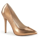 rosa ouro 13 cm AMUSE-20 Pleaser scarpin salto agulha