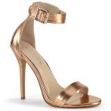 rosa ouro 13 cm Pleaser AMUSE-10 sandálias de salto alto mulher